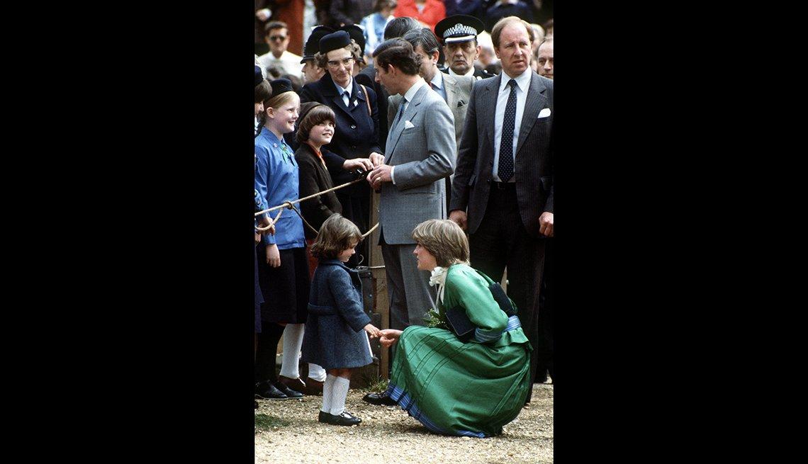 Lady Diana Spencer y el príncipe Carlos