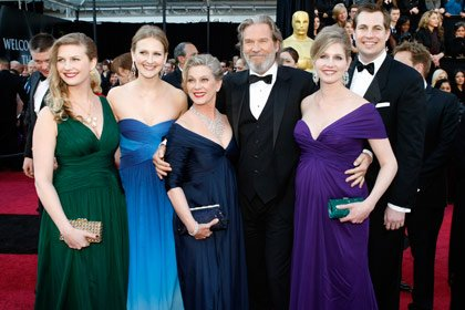Jeff Bridges and family at the Oscars