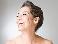 Look 10 Years Younger: Hispanic woman laughing