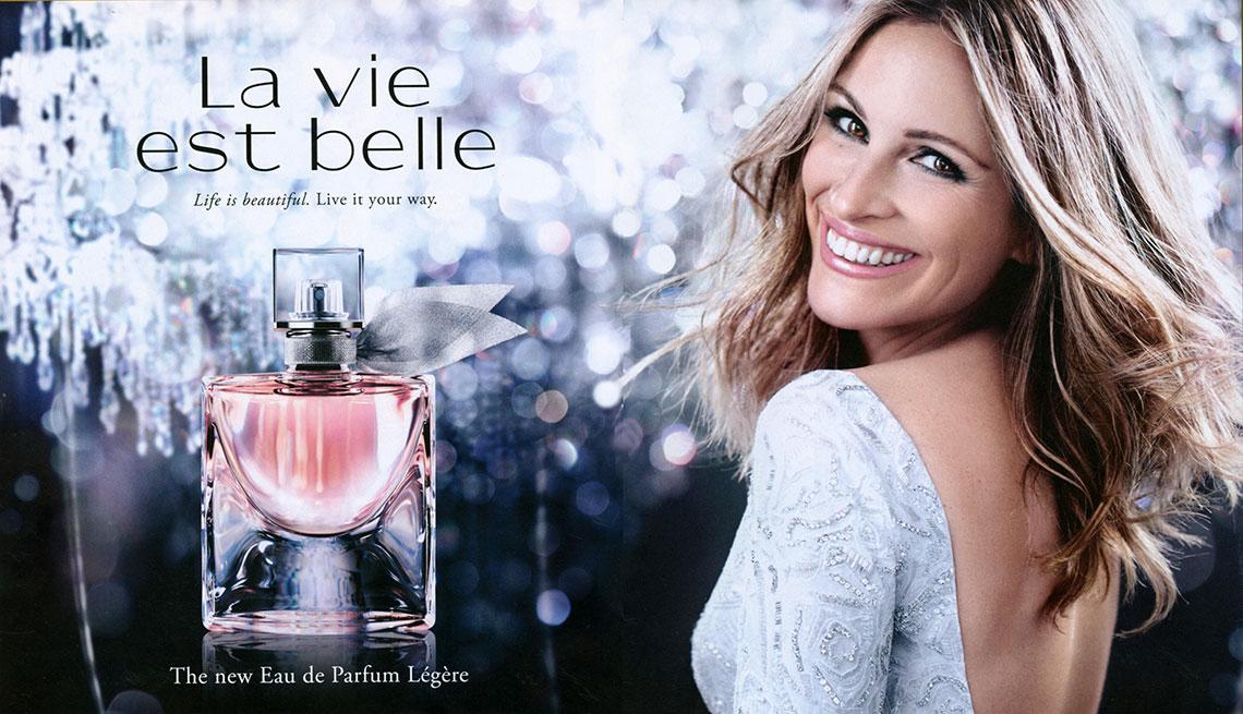 an ad for La Vie Est Belle by Lancome