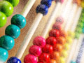 colorful abacus for count down game