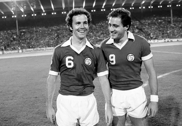 Beckenbauer y Chinaglia fueron parte del New York Cosmos en 1978.