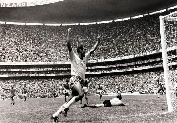 Carlos Alberto en las finales de la Copa Mundial en 1970.