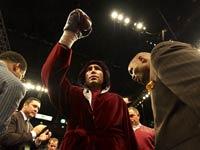 Oscar de la Hoya, antes de una de sus peleas.