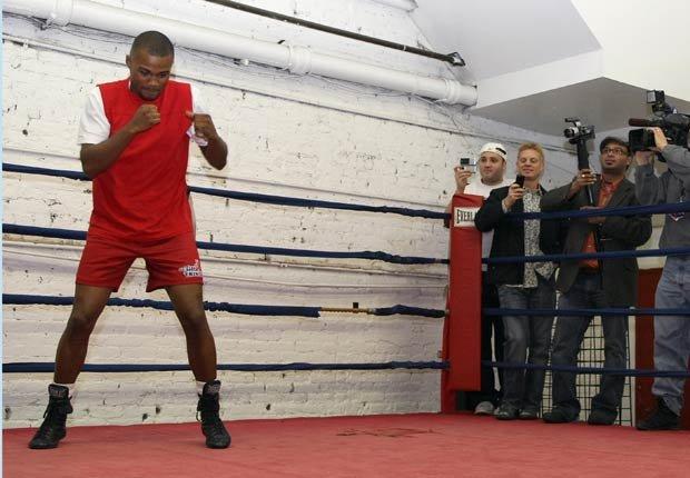Felix 'Tito' Trinidad, boxeador boricua en uno de sus entrenamientos.