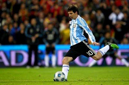 Lionel Messi Jugando con la Seleccion Argentina