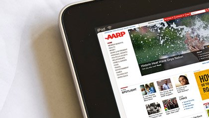 Free iPad for Members who make AARP.org their homepage