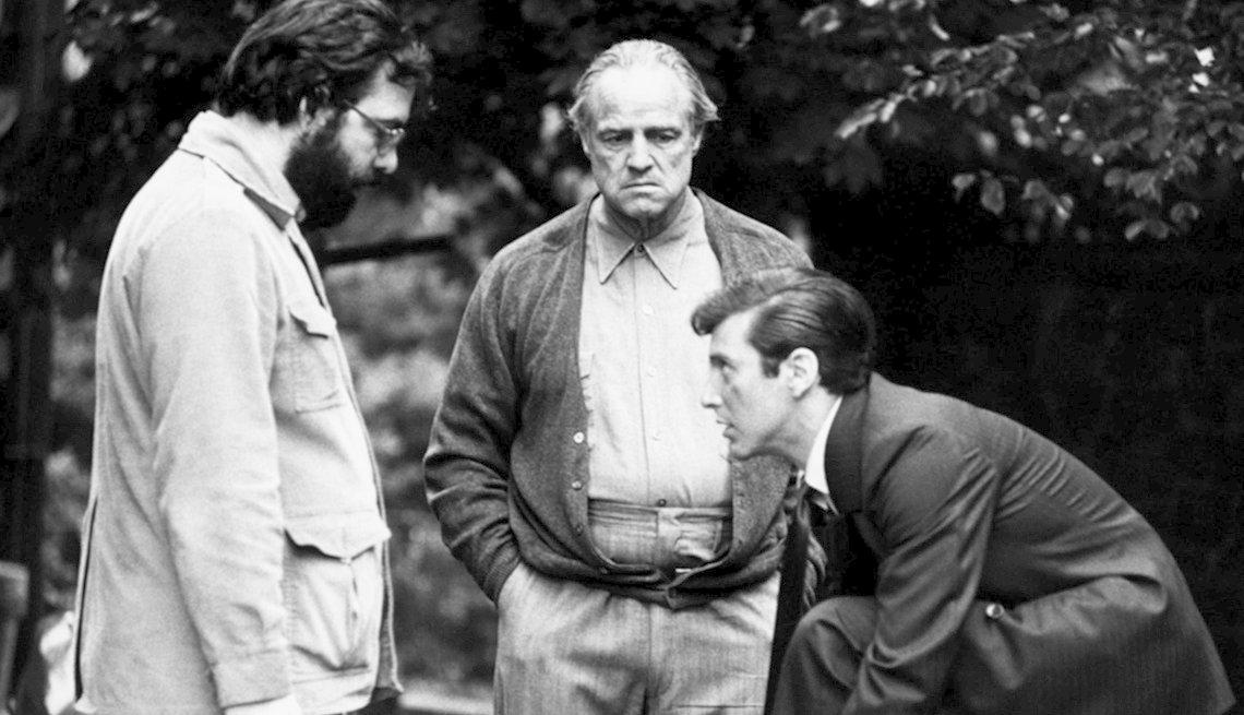 Francis Ford Coppola, Marlin Brando, Al Pacino, películas clásicas