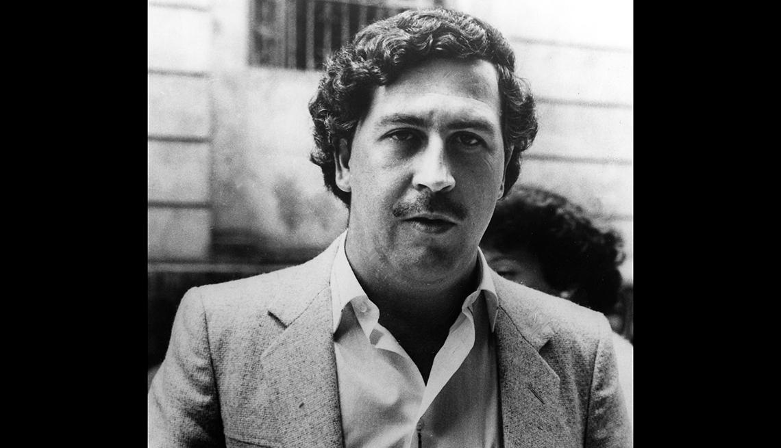 Retrato del narcotraficante Pablo Escobar