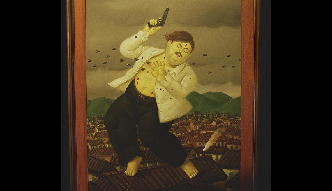 Óleo de Pablo Escobar realizado por el artista colombiano Fernando Botero