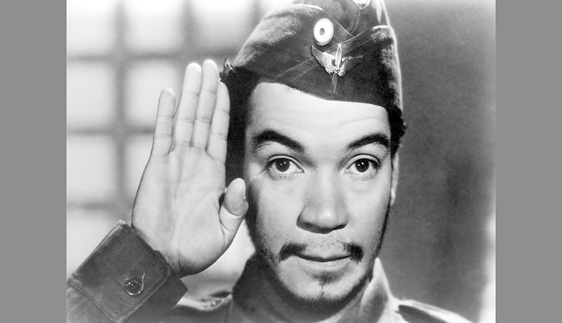 "item 4, Gallery image. Cantinflas in a scene from the 1947 movie ""A Volar Joven."""