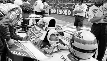 Brazilian Race Care Driver Ayrton Senna
