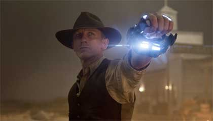 Daniel Craig stars along Harrison Ford in the film Cowboys & Aliens.