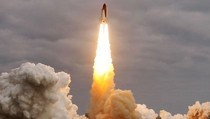 Space shuttle Endeavour launching