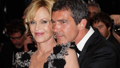 Antonio Banderas y Melanie Griffith durante la el estreno de