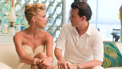 Amber Heard and Johnny Depp star in
