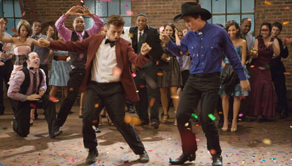 Kenny Wormald and Miles Teller star in 'Footloose'