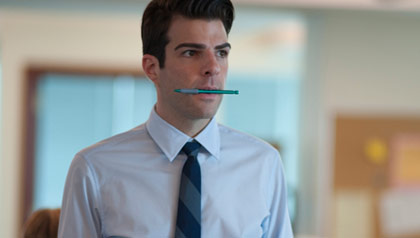 Zachary Quinto as Peter Sullivan in 'Margin Call'