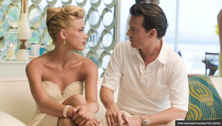 "Amber Heard and Johnny Depp star in ""The Rum Diary"""