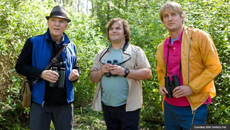 Steve Martin (center), Jack Black (right) and Owen Wilson star in 'The Big Year'