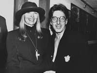 Actor Al Pacino with girlfriend, Diane Keaton at screening of