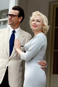 From left: Dougray Scott (as Arthur Miller), Michelle Williams (as Marilyn Monroe) in 'My Week With Marilyn' 2011.