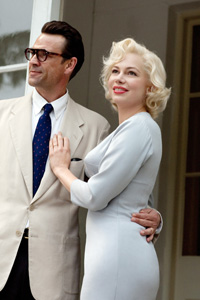 From left: Dougray Scott (as Arthur Miller), Michelle Williams (as Marilyn Monroe) in 'My Week With Marilyn' 2011.
