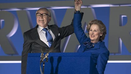 Meryl Streep interpreta a Margaret Thatcher en la película: The Iron Lady