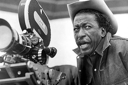 Director, producer and writer Gordon Parks, on the set of 1969's THE LEARNING TREE.