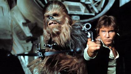 Harrison Ford en La guerra de las galaxias