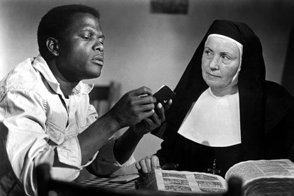 Sidney Poitier and Lilia Skala star in LILIES OF THE FIELD, 1963.