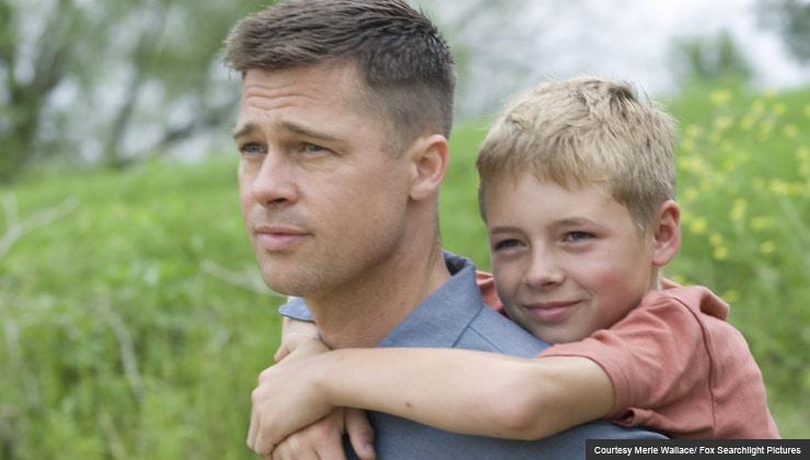 Brad Pitt and Laramie Eppler in the Tree of Life