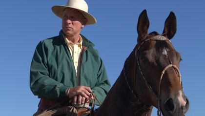 Cowboy and horse whisperer Buck Brannaman