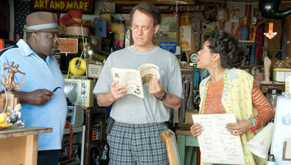 (I a D) Lamar (Cedric The Entertainer), Larry (Tom Hanks) y B'Ella (Taraji P. Henson) en la comedia romántica
