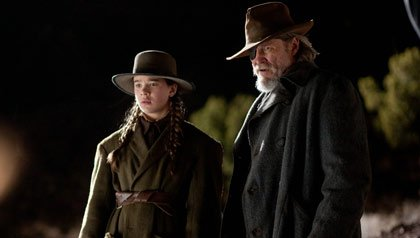 Hailee Steinfeld and Jeff Bridges star in True Grit