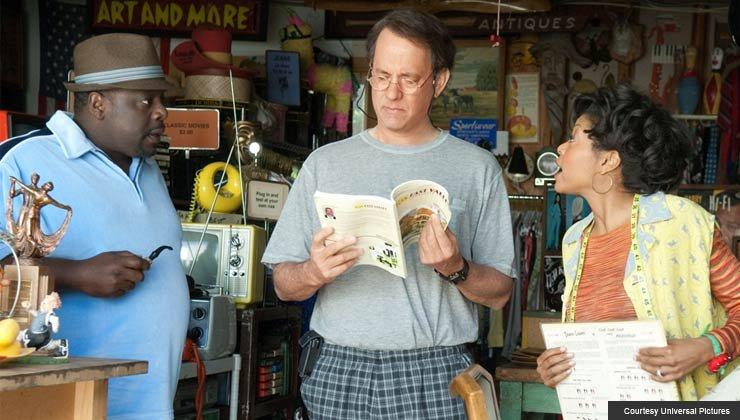 Cedric the Entertainer, Tom Hanks, and Taraji P. Henson in Larry Crowne