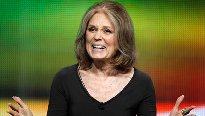 Activist Gloria Steinem speaks during a session about her HBO documentary.