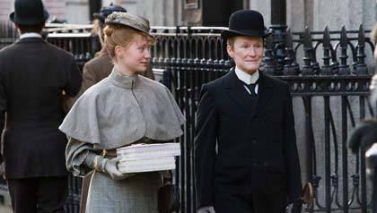 "Mia Wasikowska and Glenn Close in ""Albert Nobbs"""
