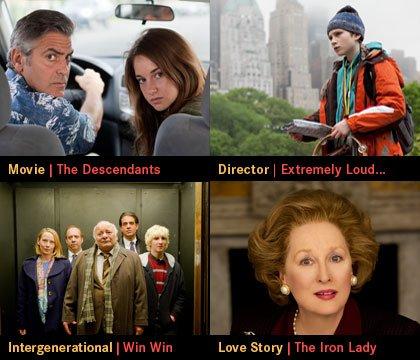 AARP Movies for Grownups Awards 2012 - Four winners