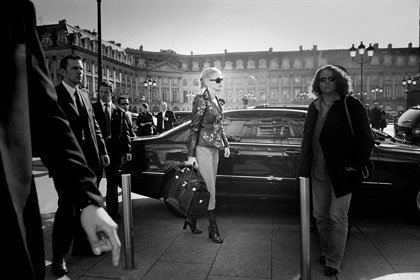 Sharon Stone in the Place Vendome in Paris