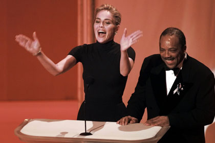 Sharon Stone impressed fashionistas with her black Gap t-shirt worn to the 1996 Oscar Award ceremonies
