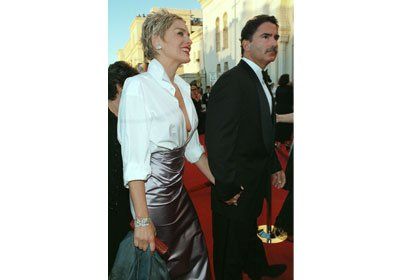 Sharon Stone wore her husband's shirt with a Vera Wang skirt to the 1998 Oscar ceremonies.