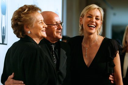 Sharon Stone with her parents in Beverly Hills in 2007.
