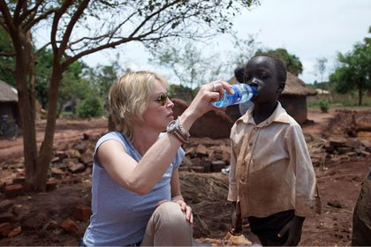 Sharon Stone donates money to build water wells in African villages