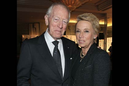 AARP The Magazine's 11th Annual Movies For Grownups Awards - Max von Sydow with wife Catherine Brelet