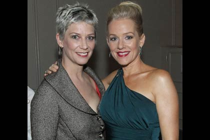 AARP The Magazine's 11th Annual Movies For Grownups Awards - Penelope Ann Miller (right) with Patricia Ward Kelly