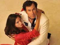 Génesis Rodríguez como Sonia y Will Ferrell como Armando en la película la Casa de mi Padre