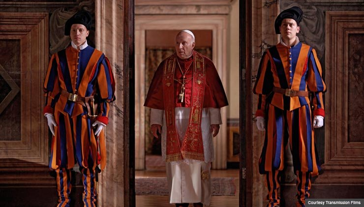 """Michel Piccolo as the newly elected Pope in """"We Have A Pope"""""""