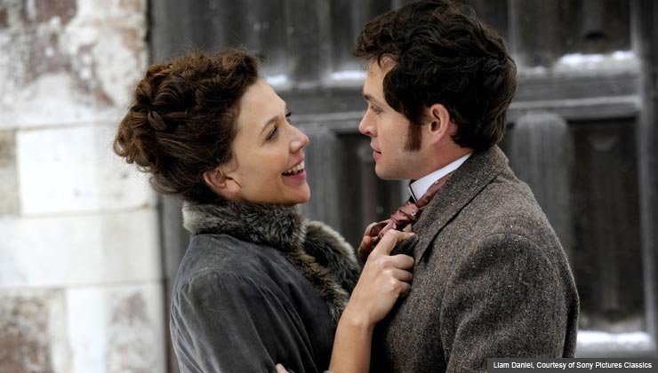 Maggie Gyllenhaal as Charlotte Dalrymple and Hugh Dancy as Mortimer Granville