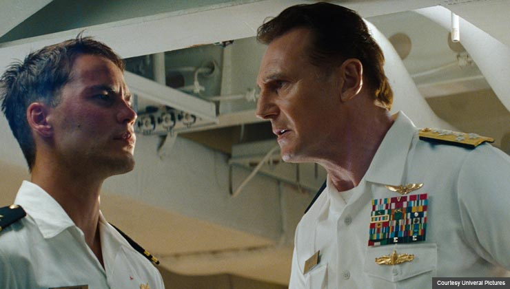 "Liam Neeson and Taylor Kitsch in Univeral Pictures' ""Battleship"""